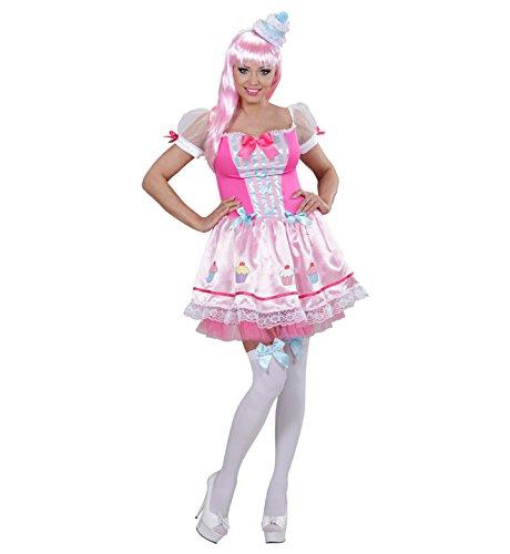 üm Cupcake Mädchen mit Hut, rosa (Cupcake Halloween Kostüme Frauen)