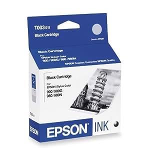 Epson Inkjet Cartridge Page Life 1200pp Black Ref T003011