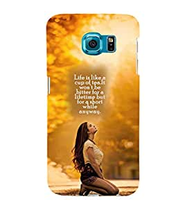 ifasho Designer Phone Back Case Cover Samsung Galaxy S6 G920I :: Samsung Galaxy S6 G9200 G9208 G9208/Ss G9209 G920A G920F G920Fd G920S G920T ( Pink Black Yellow Colorful Pattern Design )