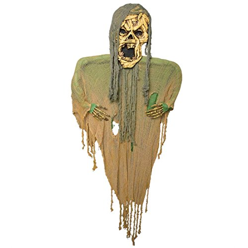 NET TOYS Mumie Deko Geist Dekoration 190 cm Monster Skelett Raumdekoration Zombie Schreck Figur Horror Gespenst Halloween Schocker Artikel