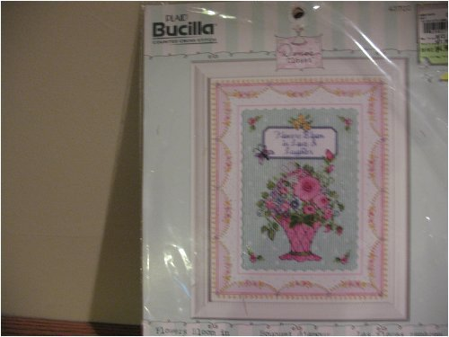 Plaid Bucilla flowers bloom in love counted cross stitch by Bucilla Counted Cross Stitch -