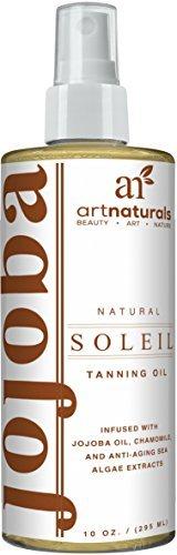 ArtNaturals Pflegendes Sonnenöl Bräunungs-Spray - (8 Fl Oz / 236 ml) - Bräunungsbeschleunigendes Sonnen-Öl Spray für eine schnellere, natürliche Bräune - mit Jojoba, Kokosöl & See-Tang Extrakten - Natürliche Bräune-Öl