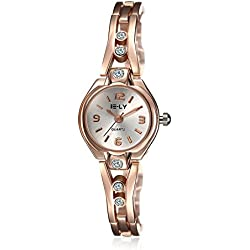 Quartz Women's Watch Swarovski Crystal-Accented Stainless Steel in Rose Gold