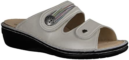 Finn Comfort 82582-901459 - Zuecos de Piel para mujer Blanco blanco