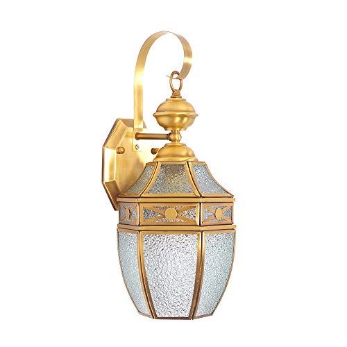 WSW Europa Amerika Gold Wandlampe Lötzinn Kupfer Diamant Glas Veranda Gang Korridor Nachttreppe Balkon Im Freien Ziemlich -