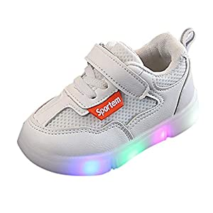 A-Arist LED Schuhe Kinder Multicolor USB Auflade Leuchtend Sportschuhe LED Sneaker Turnschuhe Gymnastik Sneaker für Mädchen Jungen