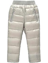 Roffatide Pantalón Bebé Invierno Pantalón Plumón Skate Cálido Grueso  Pantalones de Nieve Niña Niño 80e6e743b68