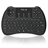 Reiie H9s Mini-Clavier sans Fil, en Disposition AZERTY avec Touchpad pour PC,Mini PC,...