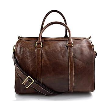 Leder reisetasche braun kleine tasche leder sporttasche reisetasche leder schultertasche herren damen umhängetasche made in Italy