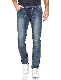 BLZ jeans - Jean homme slim bleu délavé poches fantaisie