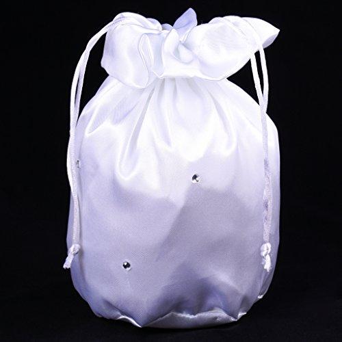 Elegante Satin Brautbeutel Handtasche Blumenmädchen Braut Tasche Dolly Bag - #1 #4