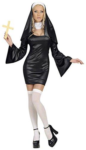 WIDMANN Damen-Kostüm Nonne, Größe S (36-38), für Schwester, Junggesellinnenabschied, Kostüm, Kostüme (Nonne Kostüm Für Damen)