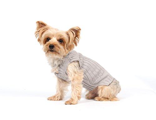 Doggy Dolly W073 Strickpullover für Hunde, grau, Winter, Größe : XXL - 5