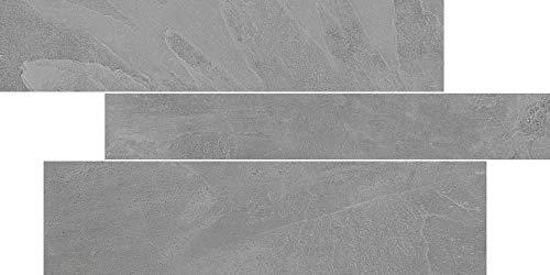 fliesenmax Feinsteinzeug Dekorfliese Collexion Tech Slate dark grey 29.2x59.2cm Natursteinoptik - Grey Slate Fliese