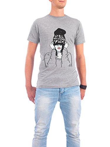"""Design T-Shirt Männer Continental Cotton """"Still-Not-Giving-A-F***"""" - stylisches Shirt Typografie Menschen Streetart von Doozal Collective Grau"""
