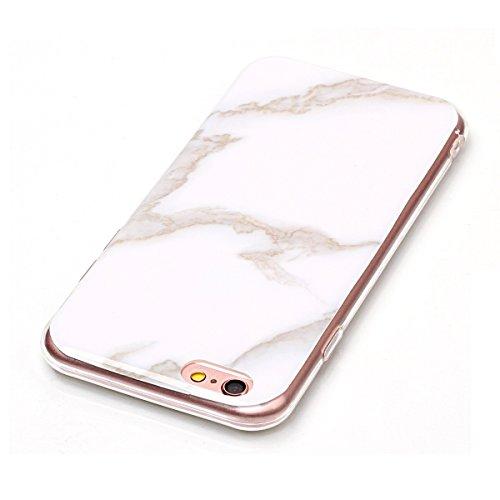 Cover per iPhone 8, CLTPY iPhone 7 Sottile Copertura in Silicone Morbido con Design Marmo Colorato Belle per Apple iPhone 7/8 + 1 x Stilo Libero - Gris Bianco Latteo
