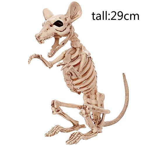 (Aprigy - Skeleton Tier 100% Kunststoff-Tier-Skelett-Knochen Horror Halloween Weihnachten Prop Tier Crow Skeleton Dekoration Jahres [5 ])