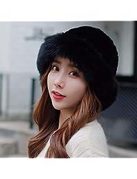 XIAOGEGE Sombrero de Invierno Sombrero de Piel Mujer Invierno Coreano Esquí  Gorro Bufanda Gorra 1b2c0e7304a