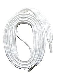 SNORS flache Schnürsenkel WEISS 150cm, 7-8mm, reißfest, Polyester, Made in Germany für Sportschuhe Sneaker Turnschuhe und Laufschuhe - ÖkoTex