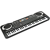 JINRUCHE Multi-function 61-Key Music Piano Keyboard Portable Electronic Musical Instrument with Microphone For Kids Children Gift