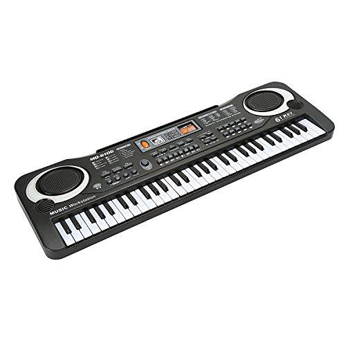 Klavier für Kinder, JINRUCHE 61 Tasten Klaviere Keyboards mit Mikrofon Elektronische Orgel Klavier Digitalpiano Spielzeug für Kinder