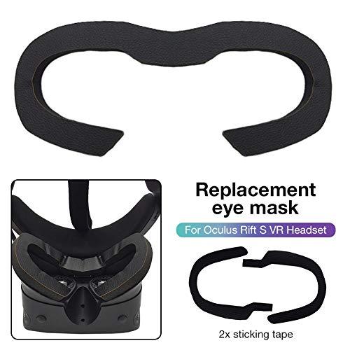 Preisvergleich Produktbild Katurn Ersatz Augenmaske - Augenmaske Schaumpolster Komfortabler Lederschwamm Schweißfeste Augenmaske Für Oculus Rift S VR Headset