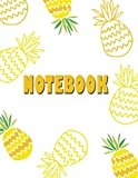 Notebook: Pine-apple  cover (8.5 x 11)  inches 110 pages, Blank Unlined Paper for Sketching, Drawing , Whiting , Journaling & Doodling (Pine-apple notebook,)
