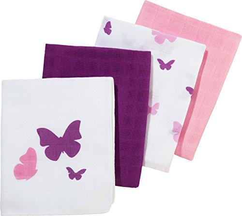 MAKIAN Mulltücher 4er-Pack rosa