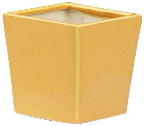 clearance-sale-planter-plant-pot-garden-115-cm-ceramic-yellow-decorative-handmade-flower-herb-plant-