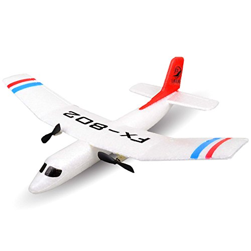 2.4GHz RC ferngesteuertes mini Segelflugzeug Glider, Segler, Flieger Inkl. Fernsteuerung und Zubehör, Geeignet für Anfänger und Profis, Ready-To-Fly, Top-Design -