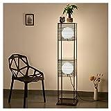 Hyvaluable Stehlampe Schlafzimmer Wohnzimmer Stehleuchte Nacht LED Lampe Retro Couchtisch Lagerung Stehlampe