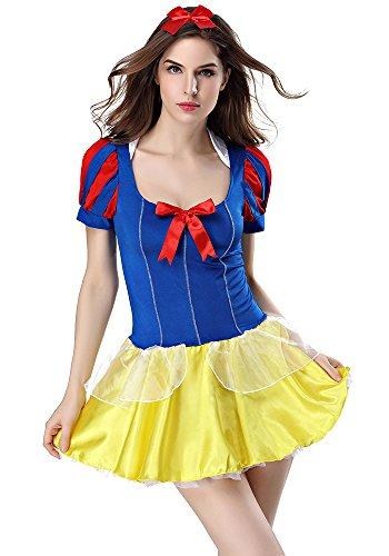 XFentech Frauen Bar Attendant Maid Uniform Cosplay Outfit Oktoberfest Kostüm Frech Niedlich Sexy Kleid