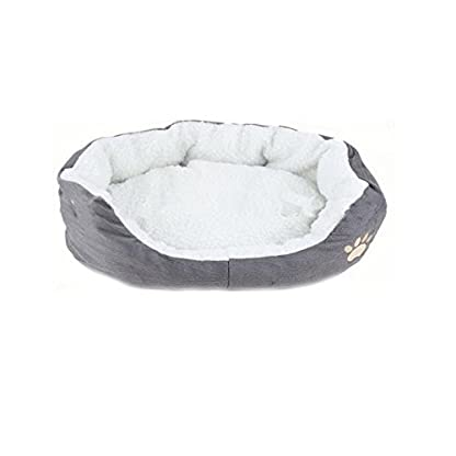TPgoBuy Round or Oval Shape Dimple Fleece Nesting Dog Cave Bed Pet Cat Bed for Cats and Small Dogs 1