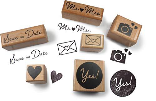 TYSK Design Stempel Set: Hochzeit XL (Motiv wählbar) Holzstempel Made in Germany, Motivstempel zum Bedrucken und Basteln (Karten, Briefe, Einladung, Einladungskarten, Hochzeitseinladung, Hochzeit)