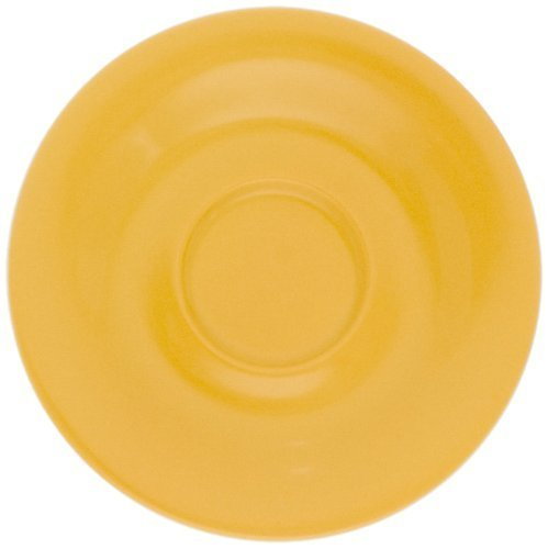 KAHLA Pronto Saucer 4-3/4 Inches, Orange Yellow Color, 1 Piece by KAHLA - PORCELAIN FOR THE SENSES