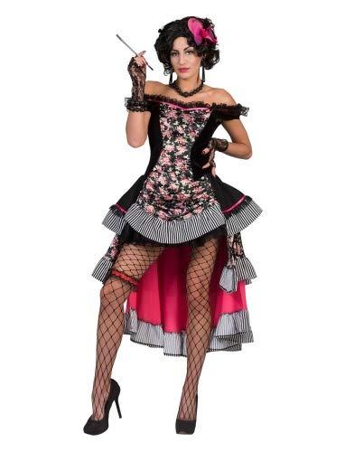 Funny Fashion Saloon Girl Sierra Kostüm für Damen - Gr. 40 42 (Gothic Girl Kostüm)