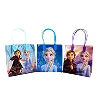Four-seasonstore Frozen 2 - Elsa, Anna & Olaf Premium Quality Party Favor Goodie Small Gift Bags Color 12pcs …
