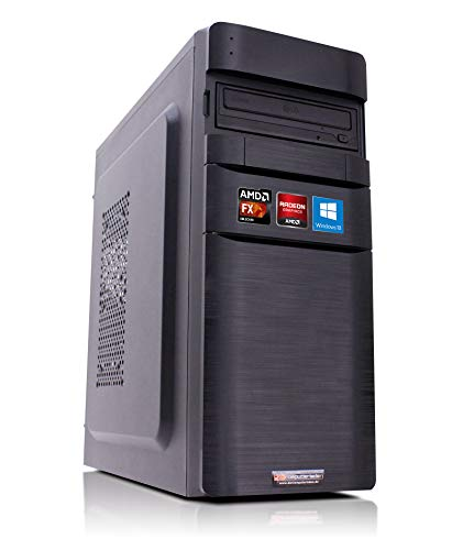 Office PC K11 AMD, FX-4300 4x3.8 GHz, 32GB DDR3, 2TB HDD, Radeon HD3000 1GB, Windows 10 Büro Computer Desktop Rechner