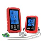 Wireless Food Thermometer,Digital Meat Thermometer,Dual Probe Waterproof Kitchen Thermometer with LCD Screen