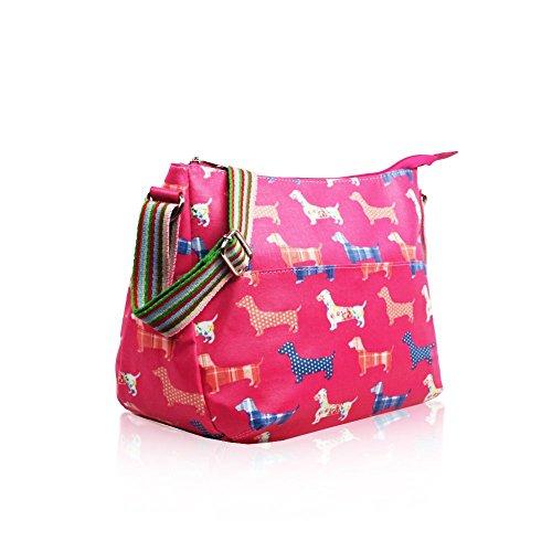 HB Style, Borsa bowling donna Multicolore Multicoloured Fuchsia