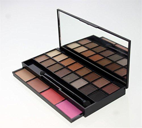 PhantomSky 20 Colores Sombra De Ojos Paleta de Maquillaje Cosmética con Corrector y Rubor - Perfecto para Uso Profesional y Diario