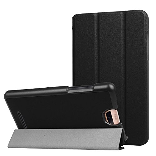 Schutzhülle für ACER Iconia Talk S 7 Zoll Ultra Slim Cover A1-734 Hardcase aufstellbar und Auto aufwachen & Schlaf Funktion (Schwarz) + GRATIS Stylus Touch Pen
