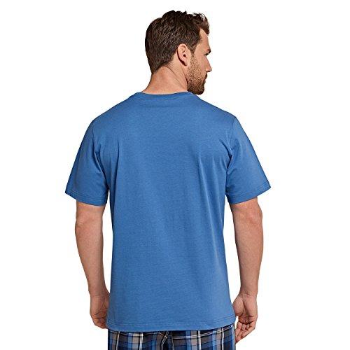 SCHIESSER Herren Rundhals T-Shirt Mix & Relax Mountain Lake 1er Pack Blau (805)