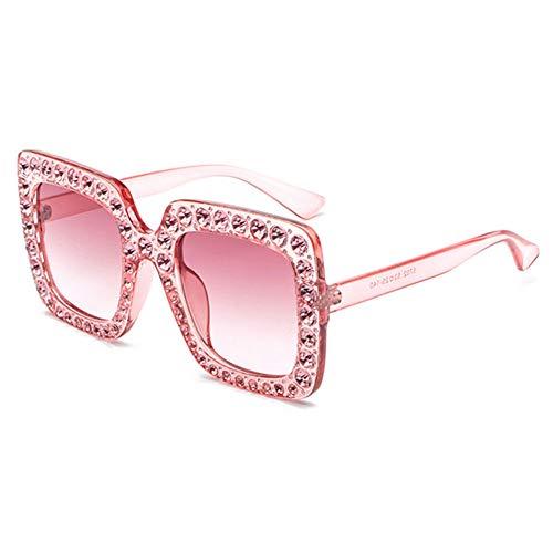 Frauen-Sonnenbrille Übergroße Quadratische Kristall Bling Sonnenbrille Sommer UV-Schutz Jewel Sonnenbrillen