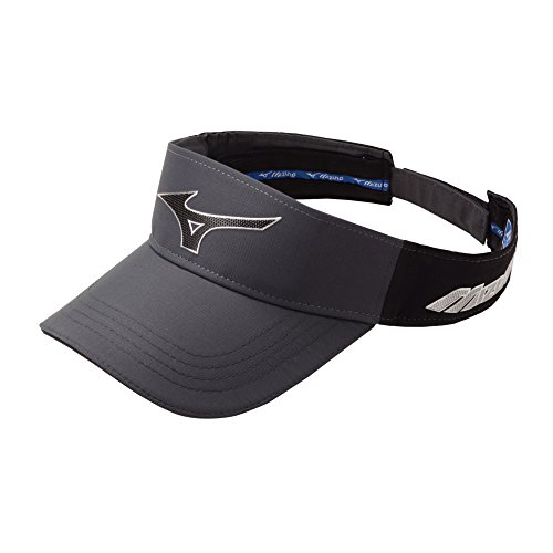 Mizuno Herren MIZUNO Sonic Visier, herren, grau / schwarz, Einstellbar (Golf-mütze Mizuno)