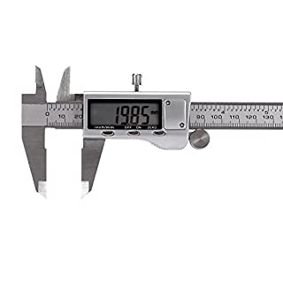 Digital Vernier Caliper with Extra-Large LCD Screen, J-Bonest Stainless Steel Digital Vernier 150 mm/6 Inch Electronic Vernier Caliper Measuring Tool IP54 Water Resistant