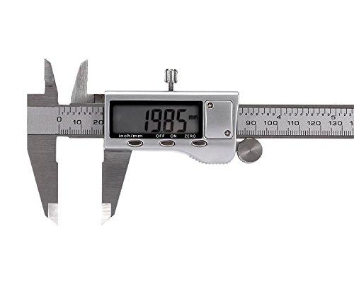 Digitale Schieblehre, J-Bonest Elektronisch Messschieber 150mm / 6-Zoll Hochpräzise Messschieber IP 54 aus Edelstahl