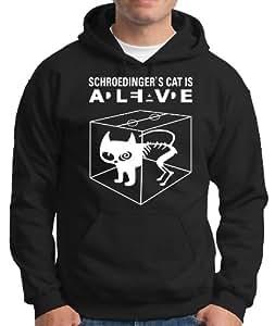 Touchlines Schroedinger's Cat Is Alive Men's Hoody black Size:S