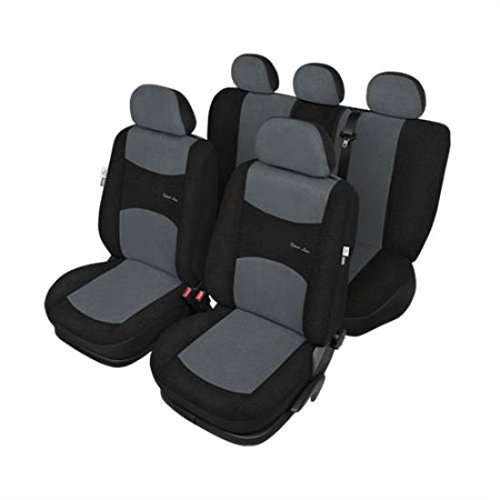 Coprisedili Grigi Neri compatibili Airbag - Toyota LAND CRUISER 2002-2010
