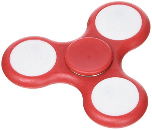 Mobee fidget spin led–giocattolo a mano anti-stress–rosso